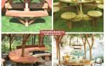 Стол для дачи деревянный уличный своими руками